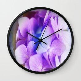 Rainbow Hydrangea Wall Clock