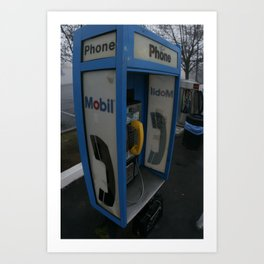 Tulare Phonebooth Art Print