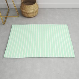 White Pinstripe on Summermint Green Rug