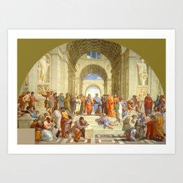 """Raffaello Sanzio da Urbino """"The School of Athens"""", 1509-1510 Art Print"""