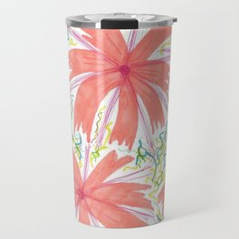 Tropical Sunburst Flowers Travel Mug
