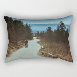 Path up the Great Smoky Mountains Rectangular Pillow