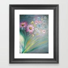 Contemporary Floral Framed Art Print