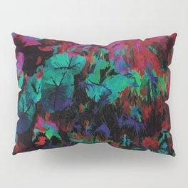 Flora Celeste Ruby Leaves Pillow Sham