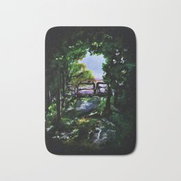 Green Pathway Bath Mat