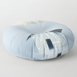 A cloud over the house Floor Pillow