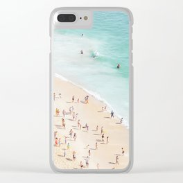 People at the Beach Clear iPhone Case