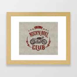 Rock 'n Roll Motorcycle Club Framed Art Print