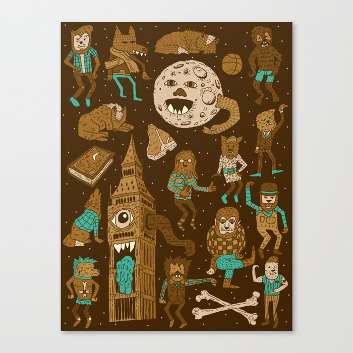 Wow! Werewolves!  Canvas Print