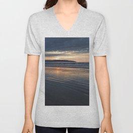 Benone Beach - Sunset Unisex V-Neck