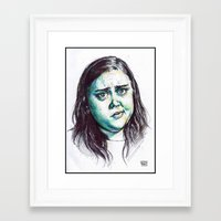 my mad fat diary Framed Art Prints featuring My Mad Fat Diary - Rae Earl by Sara (aka Wisney)