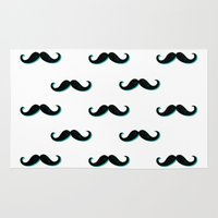 mustache Area & Throw Rugs featuring Mustache by JoanaRosaC