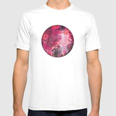Pour Ultraviolet Pink White MEDIUM Mens Fitted Tee