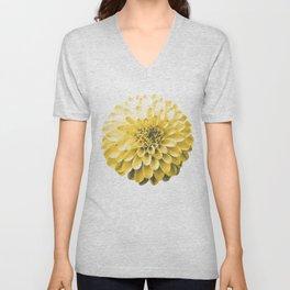 Yellow Dahlia Unisex V-Neck