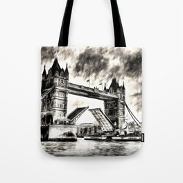 Tower Bridge and the Waverley Art Tote Bag