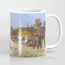Husking Bee, Island Of Nantucket - Eastman Johnson Coffee Mug