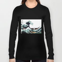 The Great Wave off Kanagawa Long Sleeve T-shirt
