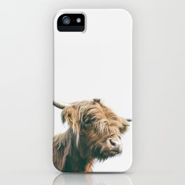 Majestic Highland cow portrait iPhone Case