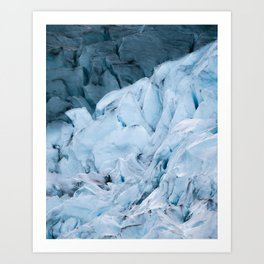Blue Glacier in Norway - Landscape Photography Art Print