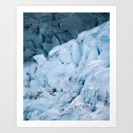 Blue Glacier in Norway - Landscape Photography Art Print
