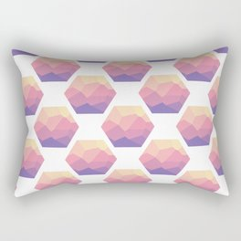 Low poly hexagons Rectangular Pillow