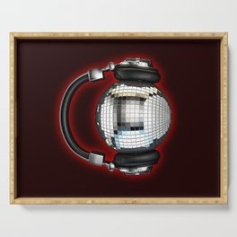 Headphone disco ball Serving Tray