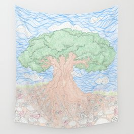 Roots and Leaves Wall Tapestry