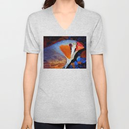 Zebra Finch Painted Unisex V-Neck