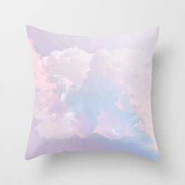 Whimsical Pastel Candy Sky #surreal #society6 Throw Pillow