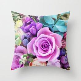 Romantic garden III Throw Pillow