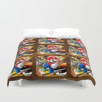 super mario Duvet Covers featuring Super Mario Mix by Maxvision