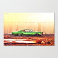 tame impala Canvas Prints featuring Impala by Hosam Al-Ghamdi
