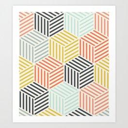 Colorful Geometric Pattern Art Print