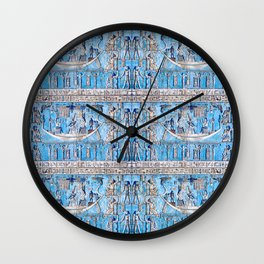 Egyptian Pattern III Wall Clock