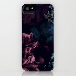 Peony in the dark iPhone Case
