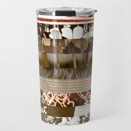 Brown Intersections Travel Mug