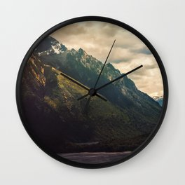 Mountain in the Lake Patagonia Argentina Landscape Wall Clock