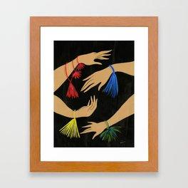 Tasseled Hands Framed Art Print