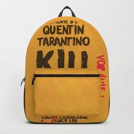 Kill Bill, Quentin Tarantino, minimal movie poster,  Uma Thurman, Lucy Liu, alternative film Backpack