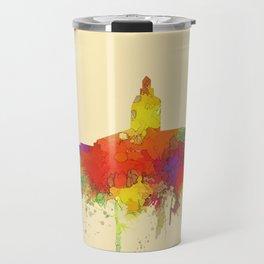 Annapolis city sky line watercolor -2 Travel Mug