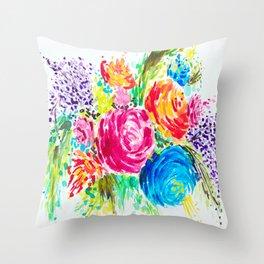 Emma's Garden Throw Pillow