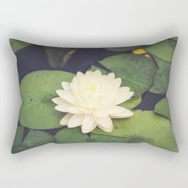 Peaceful Water Lily Rectangular Pillow