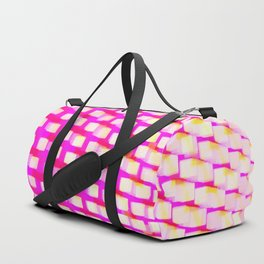 Eye Play in Pink and White Duffle Bag