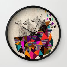 The Night Playground by Peter Striffolino and Kris Tate Wall Clock