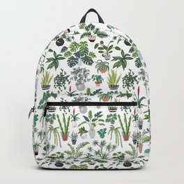 plants and pots pattern Backpack