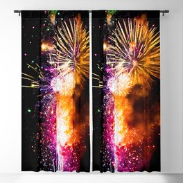 Fireworks Display Addison Texas Kaboom Town 2017 Blackout Curtain