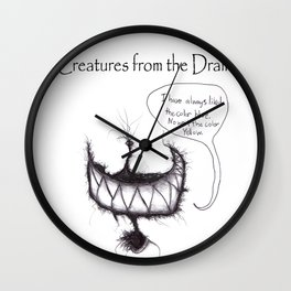 The creatures from the drain (blue no yellow) 1 Wall Clock