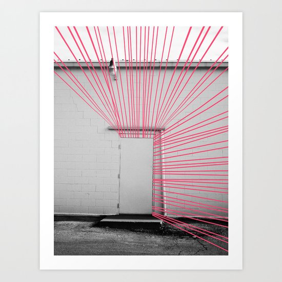 White Door, Red-Pink Prism Art Print