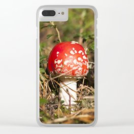 red fly agaric Clear iPhone Case