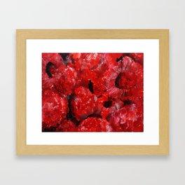 Raspberries - Still Life In Acrylics Original Fine Art Framed Art Print
